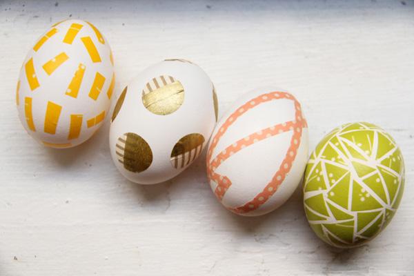 Decoración con huevos de Pascua