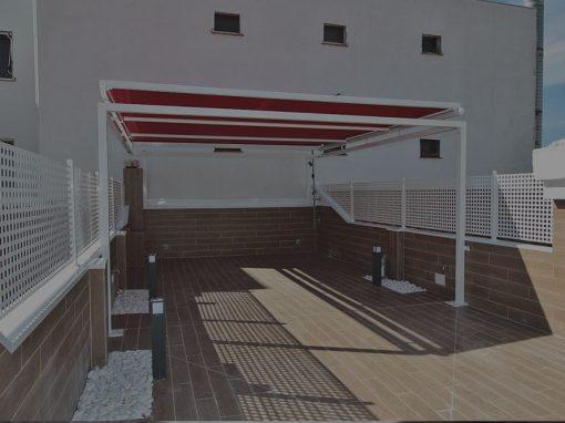 Antes y después de la reforma de una terraza
